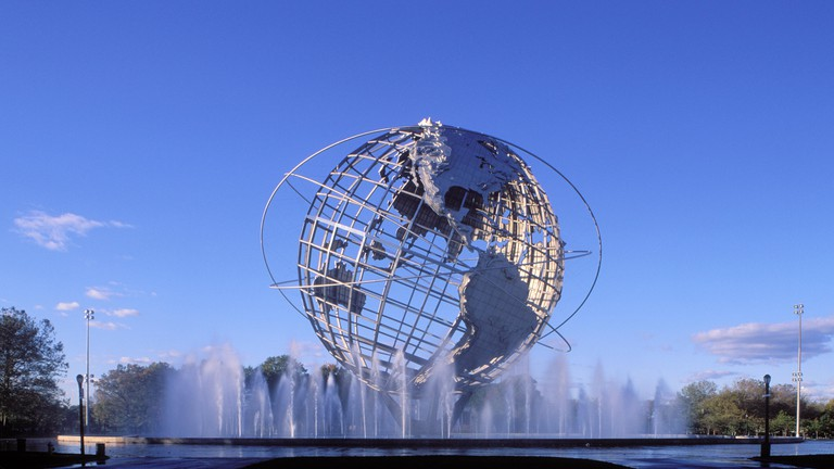 Unisphere, Flushing Meadow Park, Queens, New York, USA.