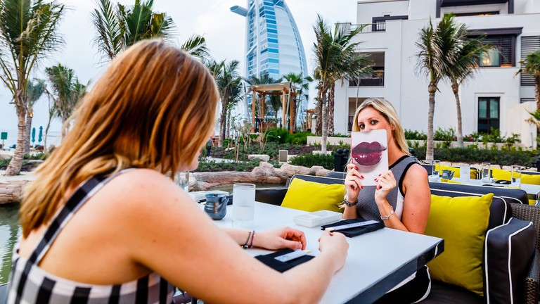 Outdoor terrace, Katsuya, at Dubai's Madinat Jumeirah