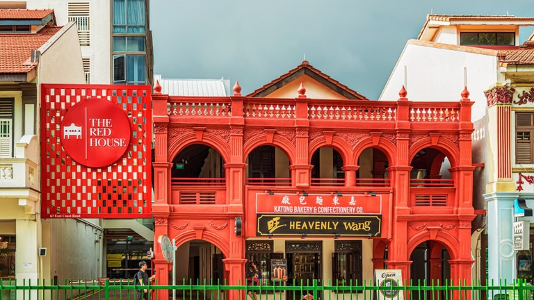 The Red House in Katong square in Singapore