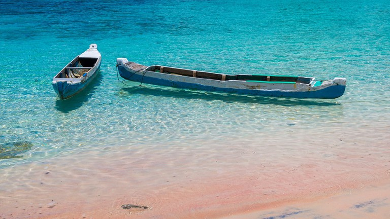Pink beach, Komodo National Park, Indonesia.