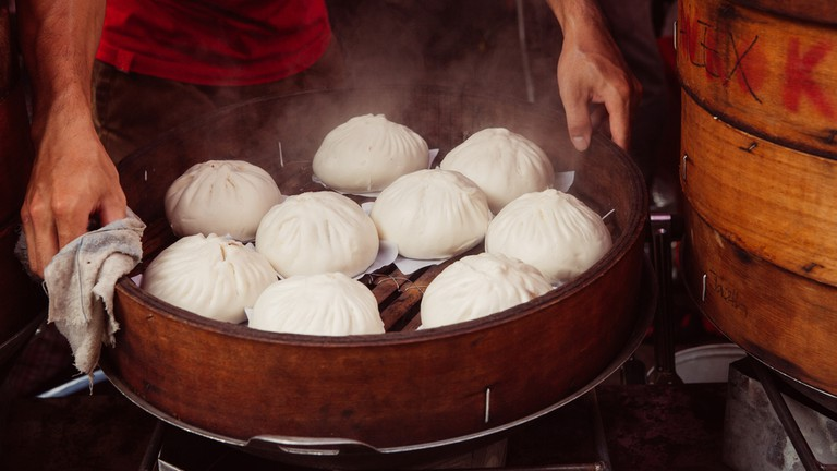 Traditional steamed buns