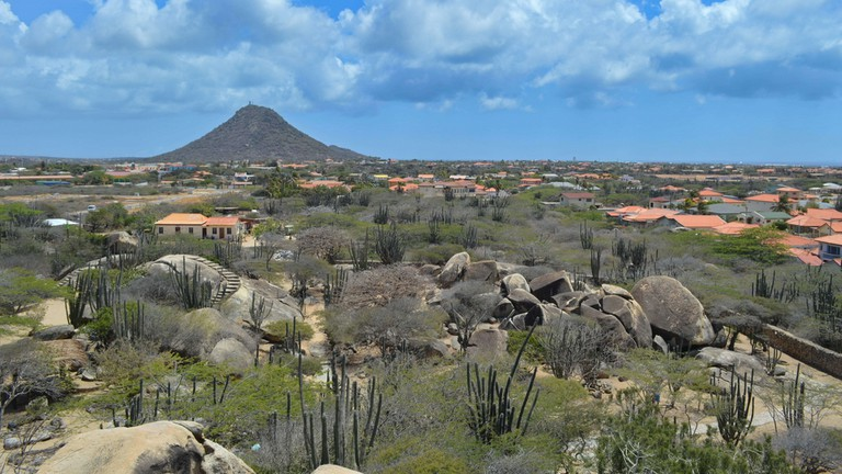 A View of Hooiberg Peak, Aruba