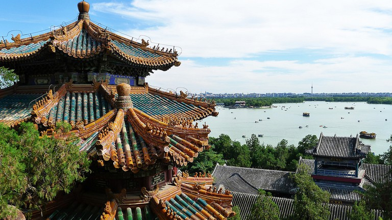 Summer palace during the summer