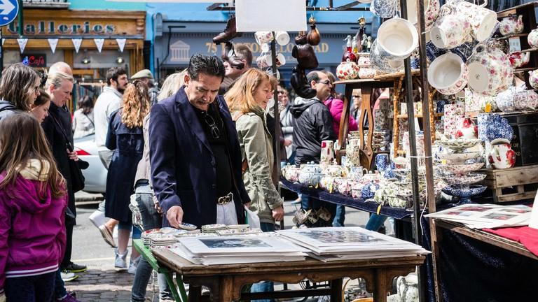 Portobello Road Market, London.