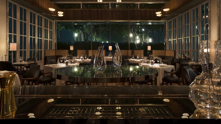 The interior of Spago Dining Room in Singapore
