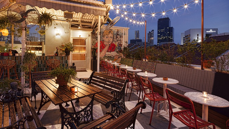 The rooftop bar of Potato Head Singapore