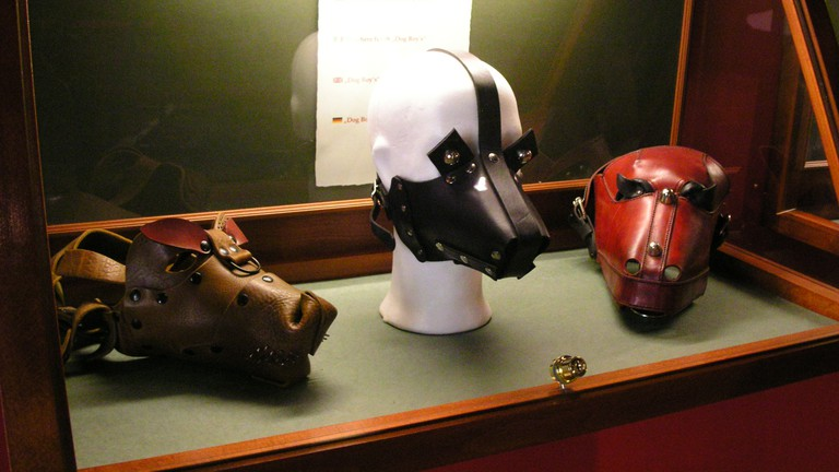 The Sex Machines Museum in Prague has a variety of erotic displays, including masks.