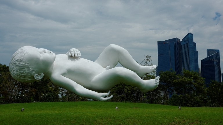 Planet by Marc Quinn in Singapore's Gardens by the Bay