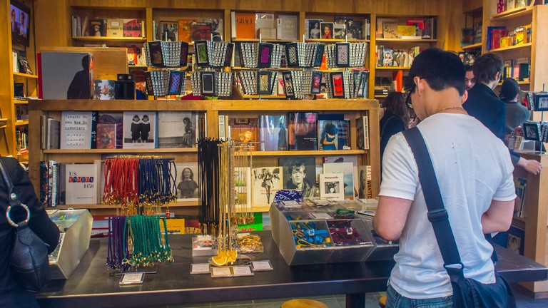 Shoppers peruse Bookmarc's wares