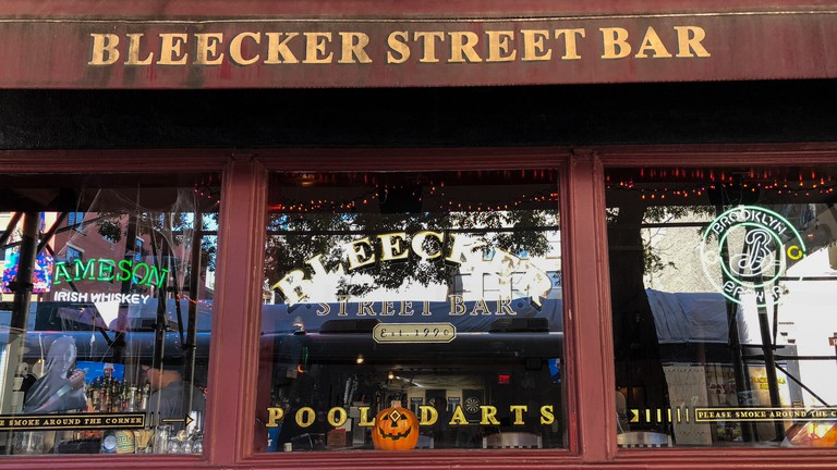 Bleecker Street Bar, widely considered a dive bar by New Yorkers, is pleasant, spacious and packed with beer options