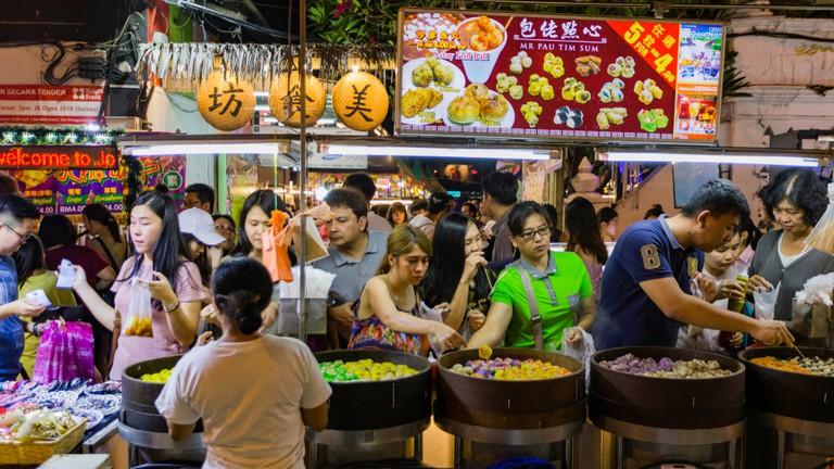 Jonker Walk street, Chinatown in Malacca, Malaysia.