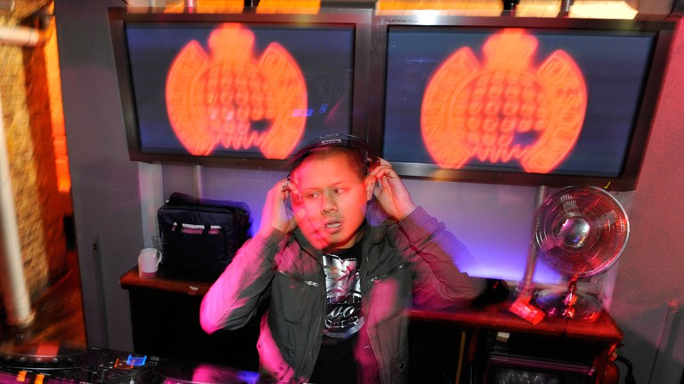 Resident Ministry of Sound DJ mixes it up at the famous East London club