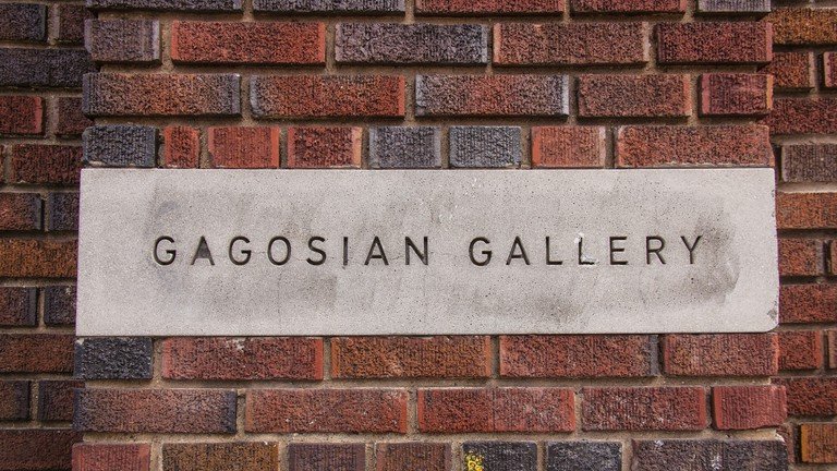 Gagosian Gallery sign, Chelsea, new York City , United states of America.