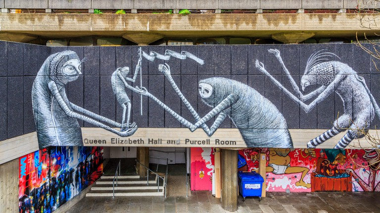 Artwork by Phlegm on the walls of the Southbank Centre