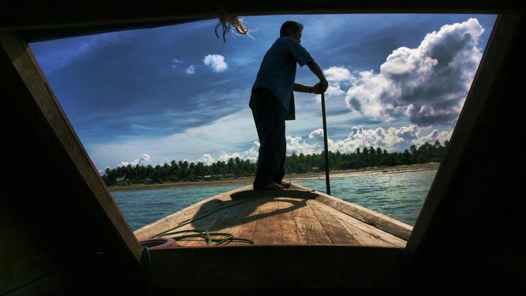 A view of Trikora beach in Bintan, Indonesia,.Photo by Yuli Seperi/Alamy