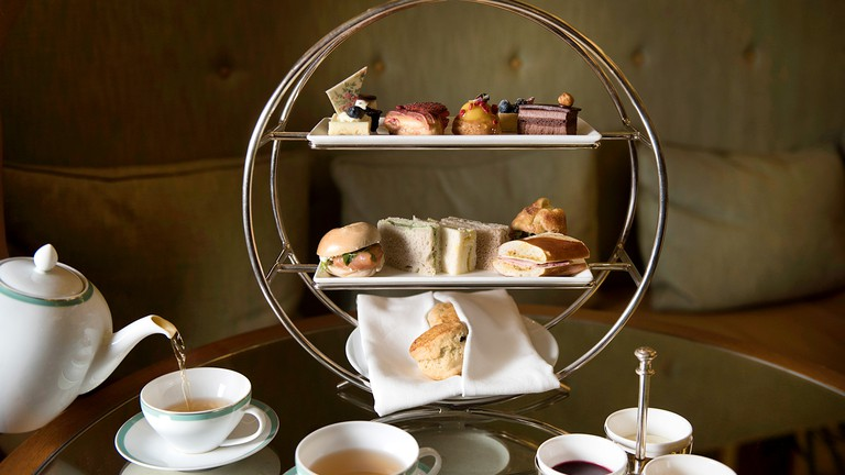 The Palm Court, afternoon tea.