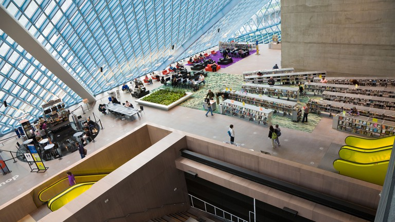 There are over one million books at Seattle's main library