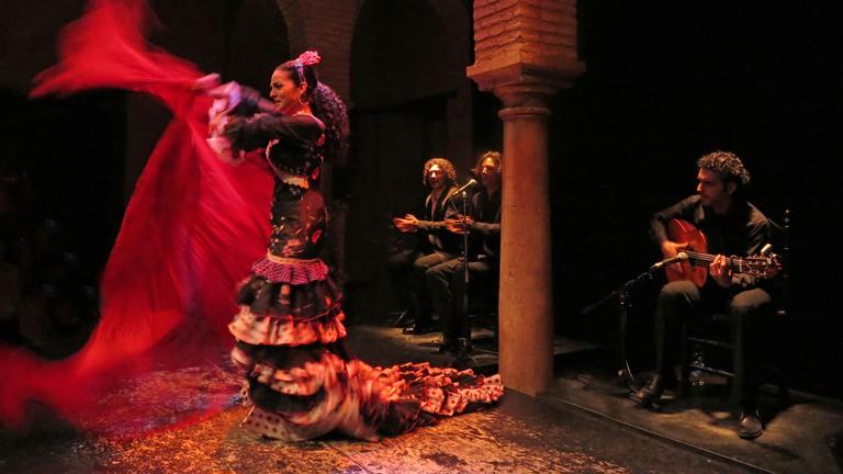 Flamenco dance show, Seville, Andalusia, Spain.