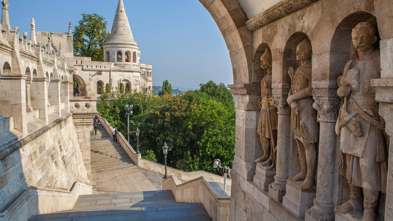 The historic Fisherman's Bastion in Budapest, Hungary.