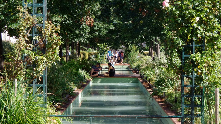 Paris France Promenade Plantee, garden on viaduct.