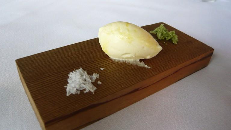 Handmade Butter and Salt at Martin Bosley's