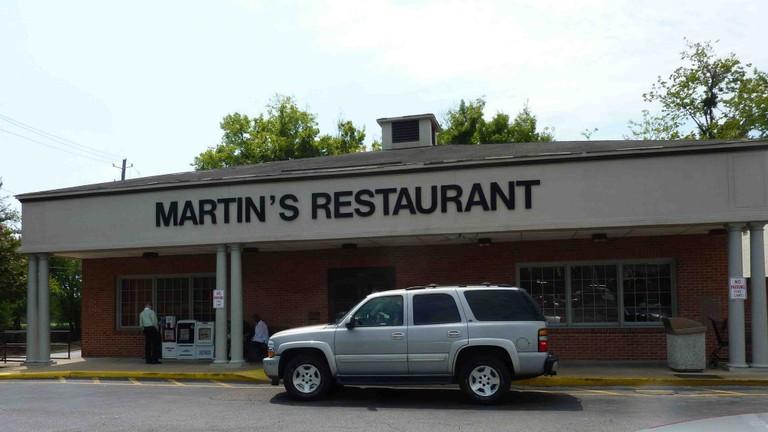 Outside Martin's Restaurant