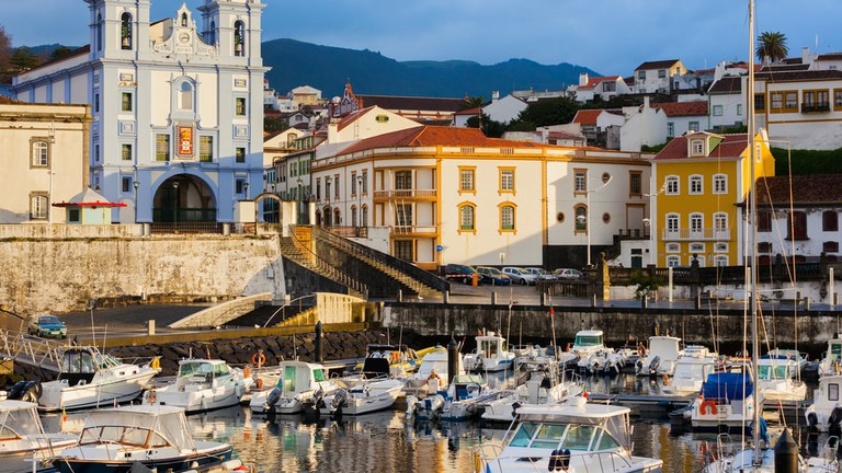 Angra do Heroismo early in the morning