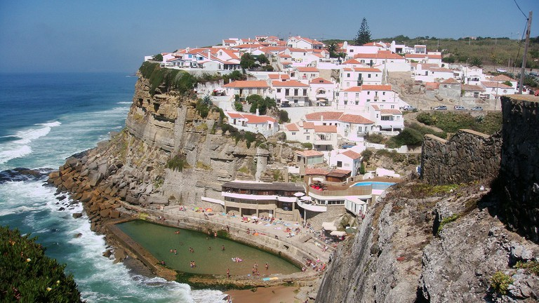 Picturesque landscape of Azenhas do Mar, Portugal