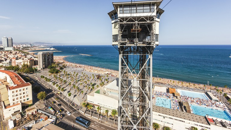 Old cable way in Barcelona, The Teleferico Barcelona