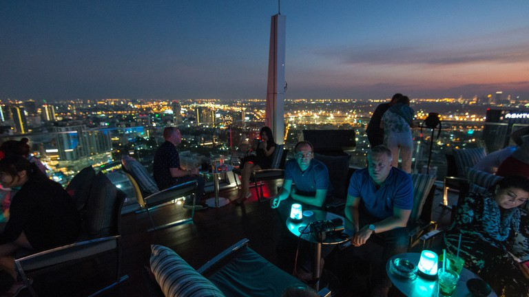 Enjoying the vibe at Octave Rooftop Bar & Lounge, Bangkok