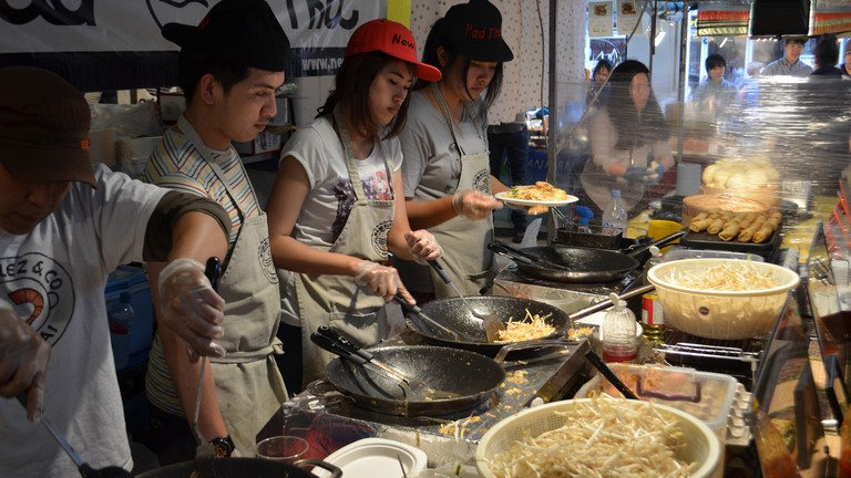 Pad Thai at Brick Lane Market