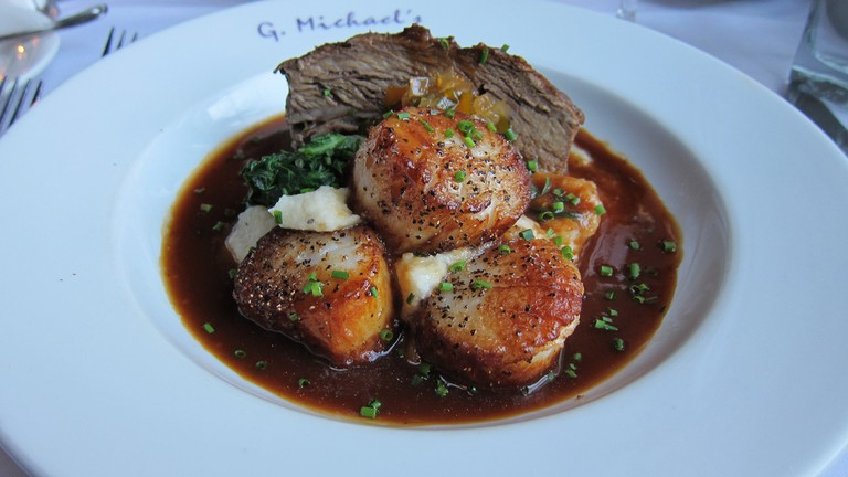 Scallops and short ribs at G. Michael's Bistro