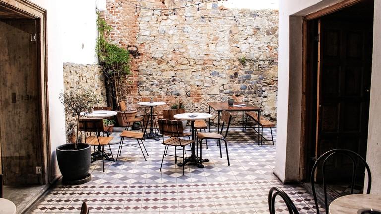 The Gin Bar courtyard