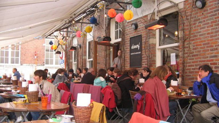 A view of the terrace at De Werf
