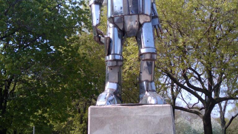 The Tin Man in Oz Park