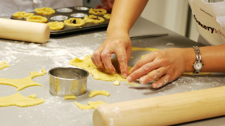 Pastry making at Cookery School