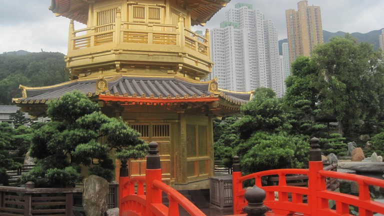 Yellow Temple, Chi Lin Nunnery, Hong Kon