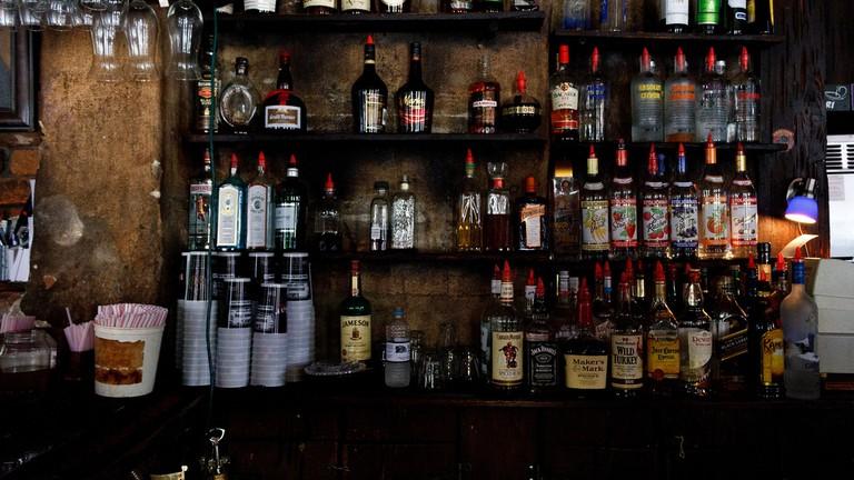 Bar at Lefitte's Blacksmith Shop