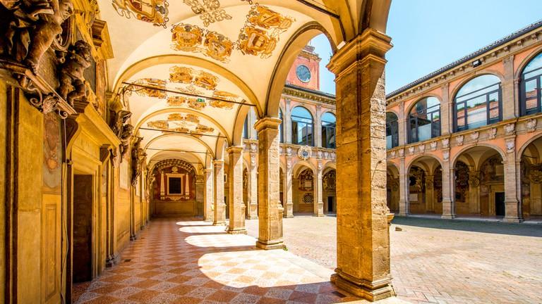 Archiginnasio of Bologna, part of the University of Bologna