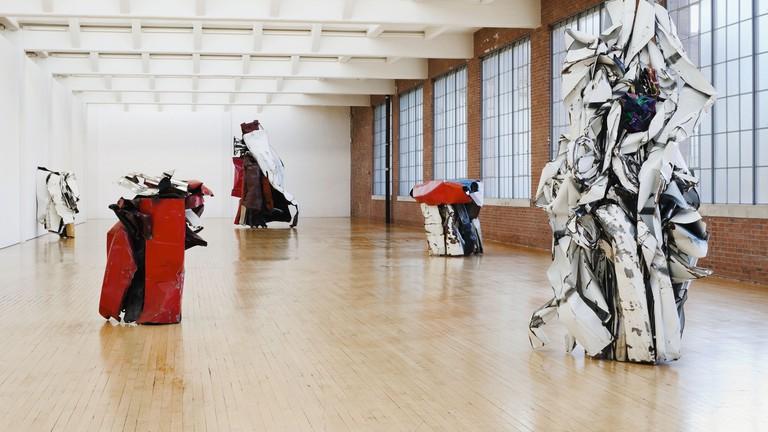 John Chamberlain, Installation View, Dia:Beacon, Riggio Galleries.