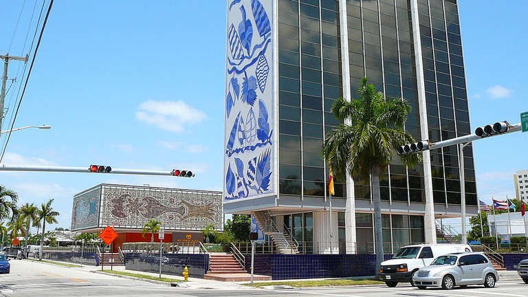 The Bacardi Building in Midtown is a perfect example of Miami Modern Architecture