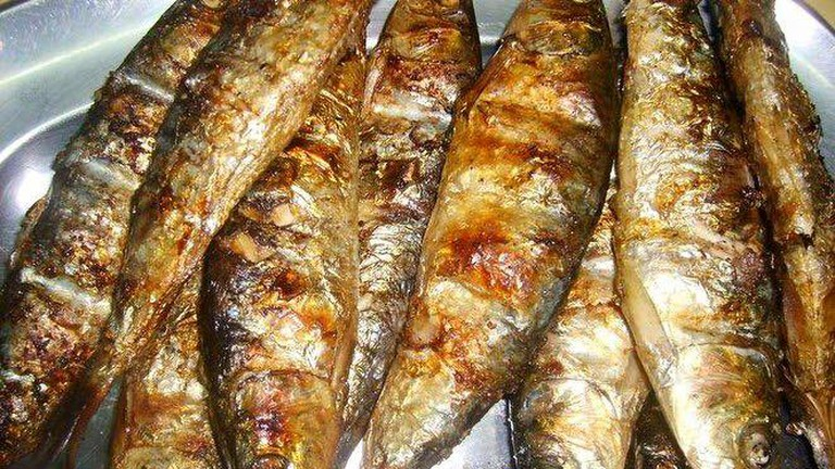 Fried sardines at Casa da Ostra