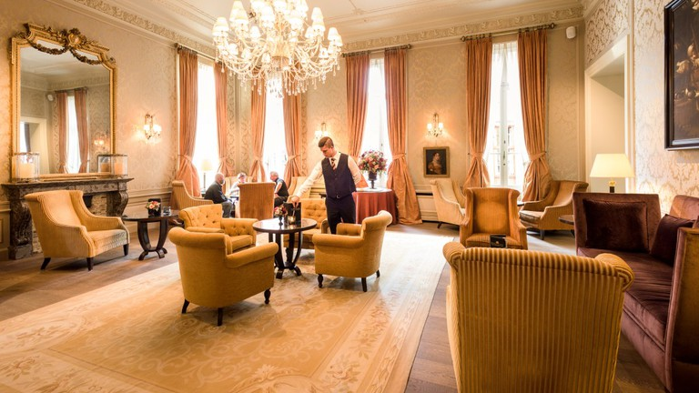 Its lounges give a good sense of the grandeur the Grand Hotel Casselbergh now exudes