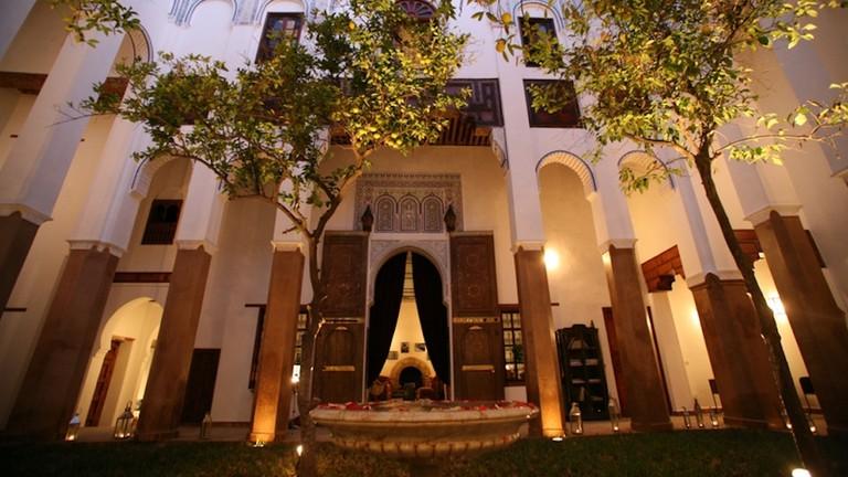 Courtyard at Riad Laaroussa