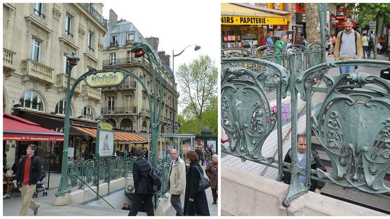 Saint-Michel metro entrance  │