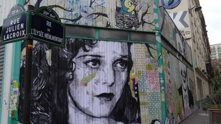 Rue de l'Elysée Ménilmontant and Rue Julien Lacroix in November 2016 │© JeanneMenjoulet&Cie