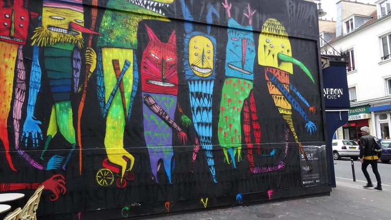 Rue Oberkampf in April 2016 │© JeanneMenjoulet&Cie