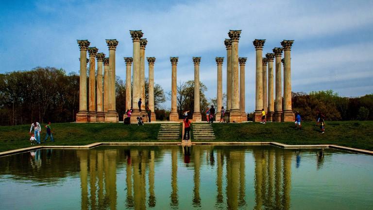 Corinthian columns at U.S. National Arboretum
