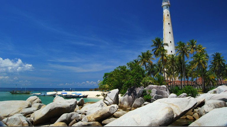 A lighthouse in Belitung
