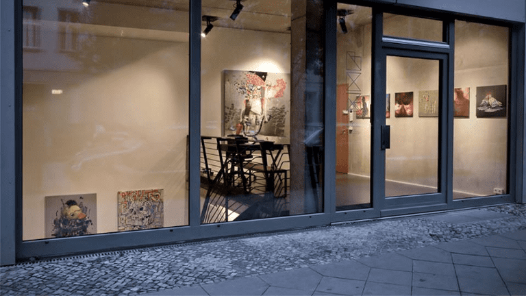 Street-view of the gallery space